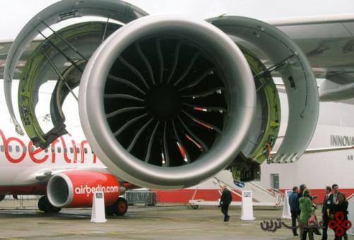 قطر فن موتور آن تقریبا به اندازهی عرض بمب افکن b 29 است