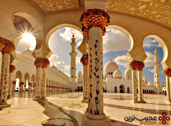 مسجد جامع شیخ زاید، ابوظبی، امارات متحدهی عربی
