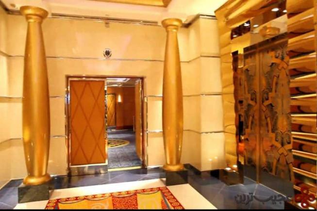 هتل برج العرب با نمایی از طلا