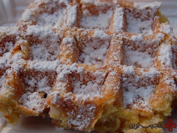 وافل بلژیکی (belgian waffle)