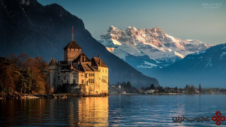 پری دریایی کوچوک، شاتو دو شیوُن (chateau de chillon)، دریاچهی جِنِوا (geneva)، سوئیس