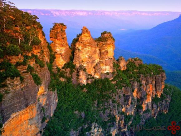 کوههای آبی یا بلو ماونتینز (blue mountains)، شرق استرالیا