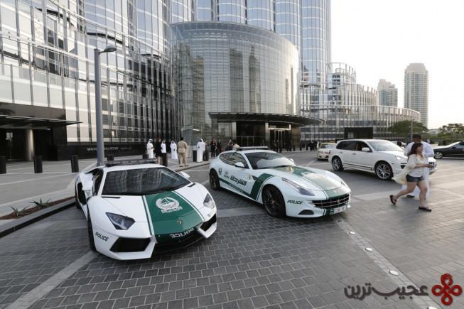 گشت پلیس با خودروهای لوکس
