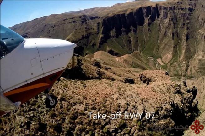 ۵ باند فرود در ماتاکین (matekane)، لسوتو(lesotho)