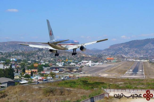 ۷ فرودگاه تانکونتین (toncontin)، تگوسیگالپا (tegucigalpa)، هندوراس