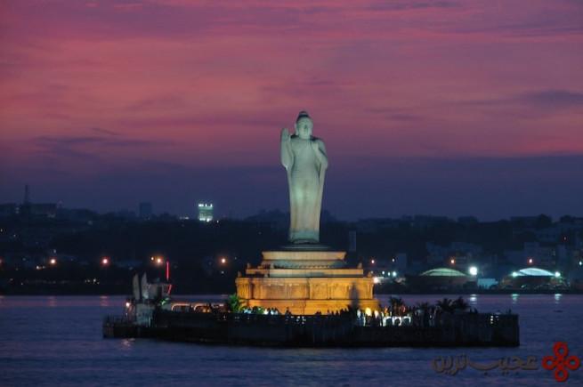 10هوساین ساگار مجسمه بودا