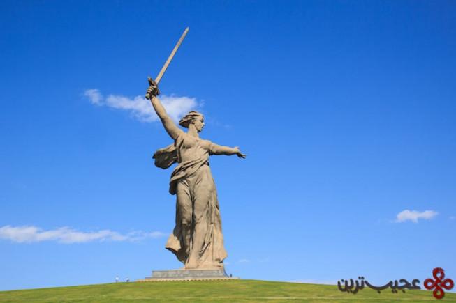 8مجسمه مادر روسیه
