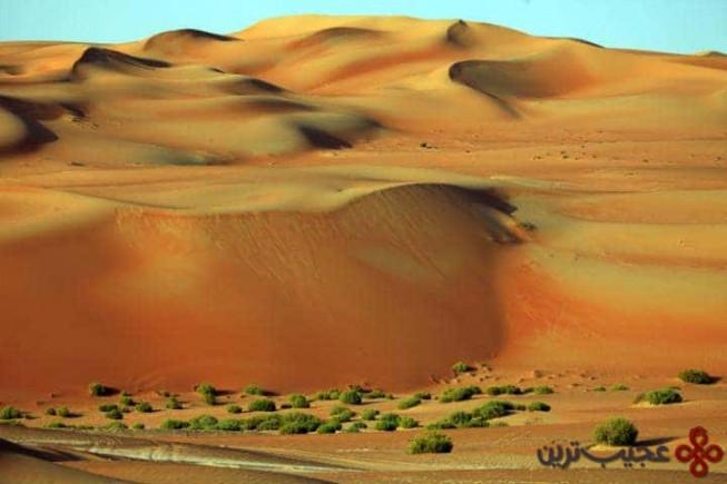empty quarter در شبه جزیرهی عربستان