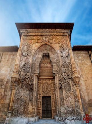 home of divriÃÂÃÂi great mosque pin: sivas, turkey