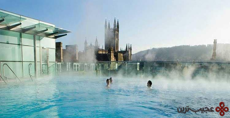 hot springs at bath, england