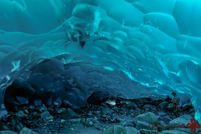 ice caves, mendenhall glacier, alaska, usa