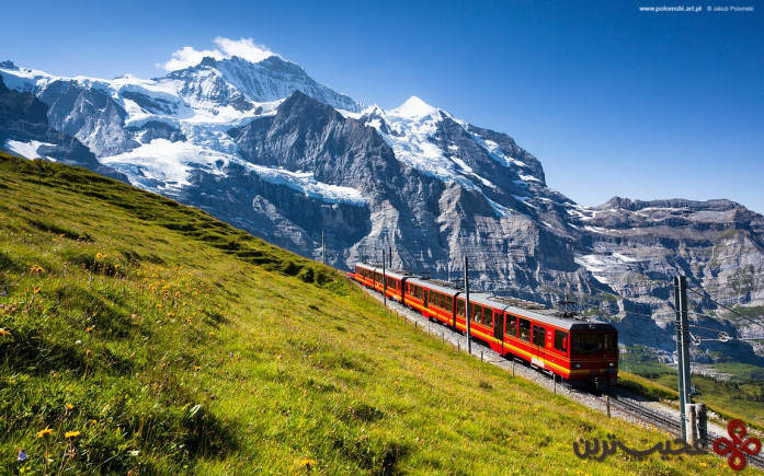 jungfraujoch rails, switzerland
