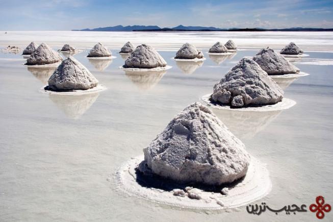 piles of salt salar de uyuni bolivia luca galuzzi