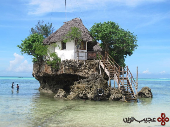 restaurant on a rock
