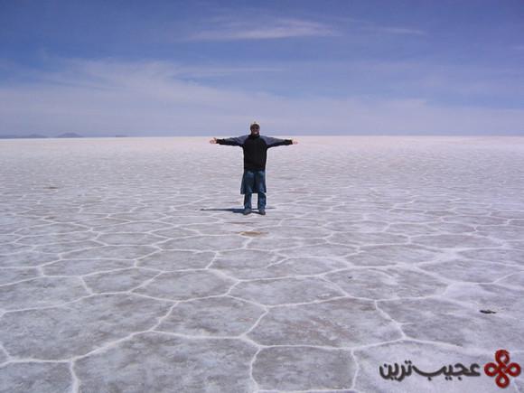 salt tiles, salar de uyuni, southern bolivia