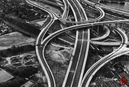 spaghetti junction, birmingham, uk