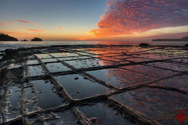 tessellated pavement sunrise
