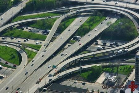 the circle interchange, chicago, usa