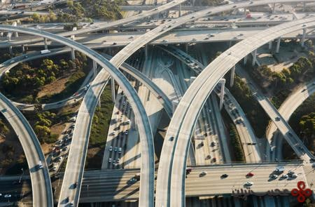 the judge harry pregerson interchange, california, usa