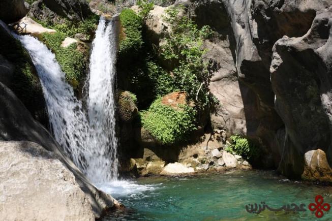 waterfall and pool at sapadere canyon alanya turkey
