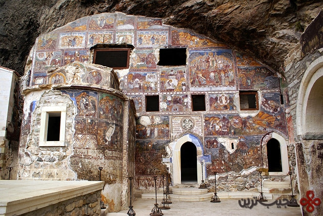 turkey fresco interior sumela monastery