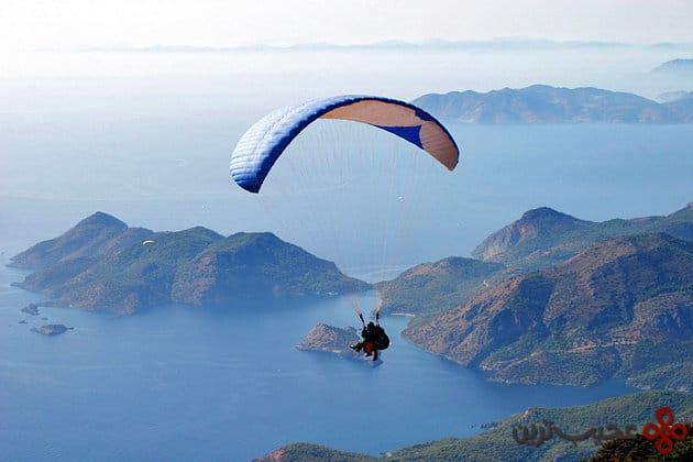 turkey paraglider over oludeniz lagoon oludeniz