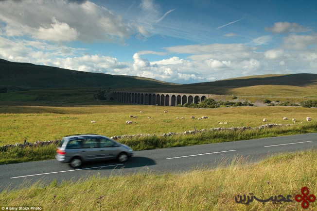 ریبلهید، یورکشایر (b6255, ribblehead viaduct, yorkshire dales)