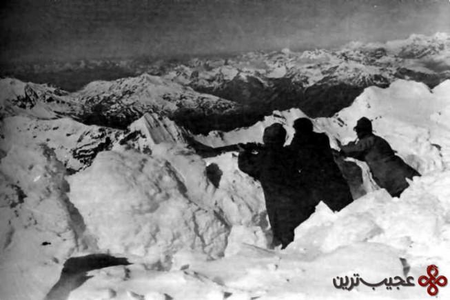 ۲ جمعه سفید یا بهمن های خط مقدم کوه های آلپ، کوه مارمولادا، ایتالیا، دسامبر ۱۹۱۶ (۱۰٫۰۰۰ کشته)