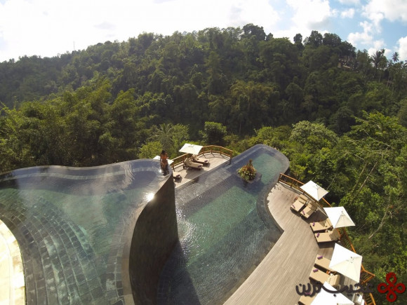 situated above bali's rainforest, the breathtaking, cascading pool at the hanging gardens bali will make you feel like you're floating on top of the trees