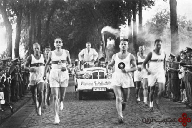 مراسم مشعل المپیک متولد شد