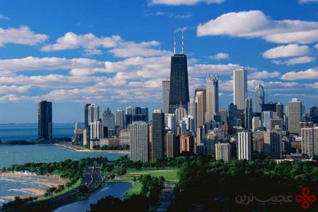 ۵ شیکاگو، آمریکا؛ ۱۱۶ آسمانخراش