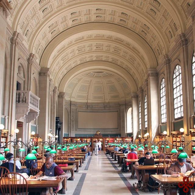 کتابخانهی عمومی بوستون، ماساچوست