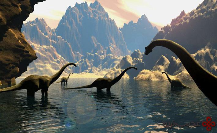 انسانهای اولیه و دایناسورها همعصر بودهاند