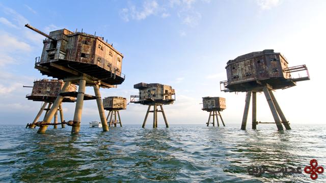 برجکهای دریایی بریتانیا