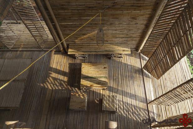 خانهٔ ساختهشده با چوب بامبو ۱