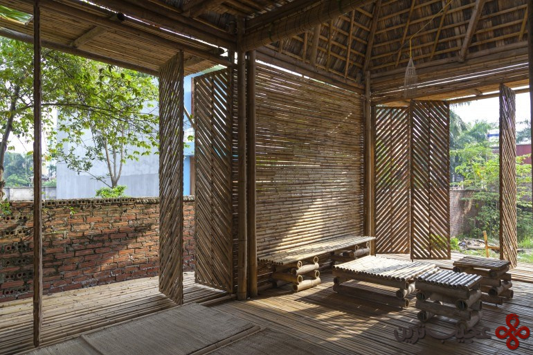 خانهٔ ساختهشده با چوب بامبو ۲