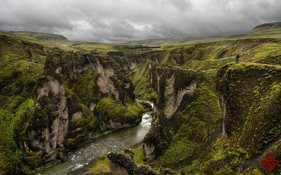 درهٔ fjaðrárgljúfur؛ ایسلند