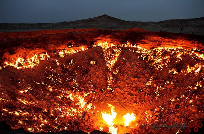 دروازه جهنم در کشور ترکمنستان