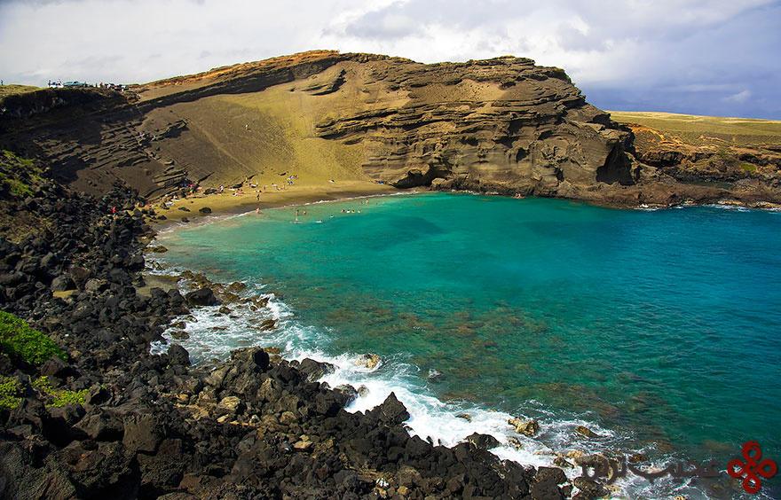 ساحل شن سبز پاپاکولئا، هاوایی ۲