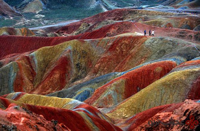 صخرههای zhangye danxia در استان گانزو