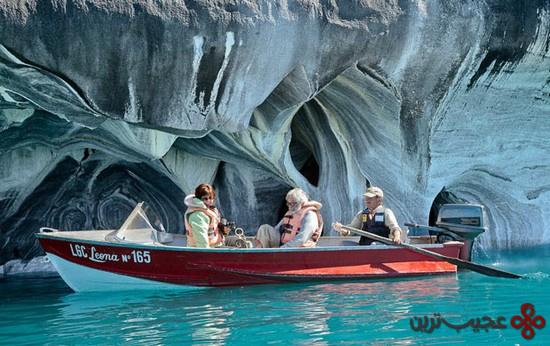 غار مرمر دریاچهٔ کاررا؛ شیلی