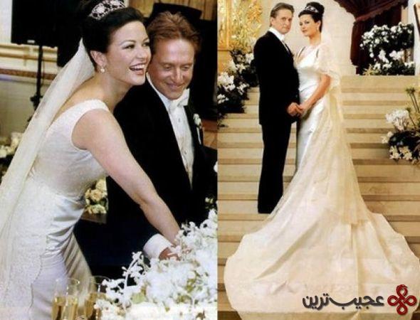 لباس عروسی کاترین زتا جونز