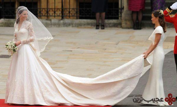 لباس عروسی کیت میدلتون