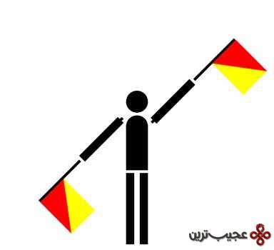 مخابره بوسیله ی پرچم