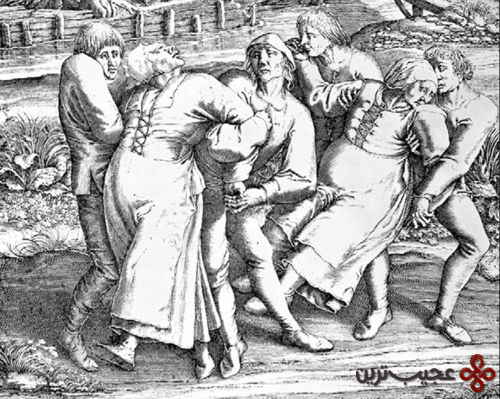۱۳ در سال ۱۵۱۸، سیل بیماری، استراسبورگ در ایالت آلزاس را فرا گرفت
